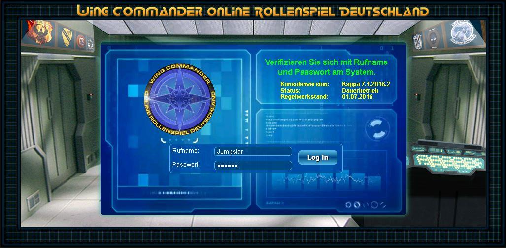 Der Hauptschirm der Spielkonsole